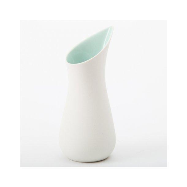 Ditte Fischer - Keramik håndlavet mælkekande, hvid og mint