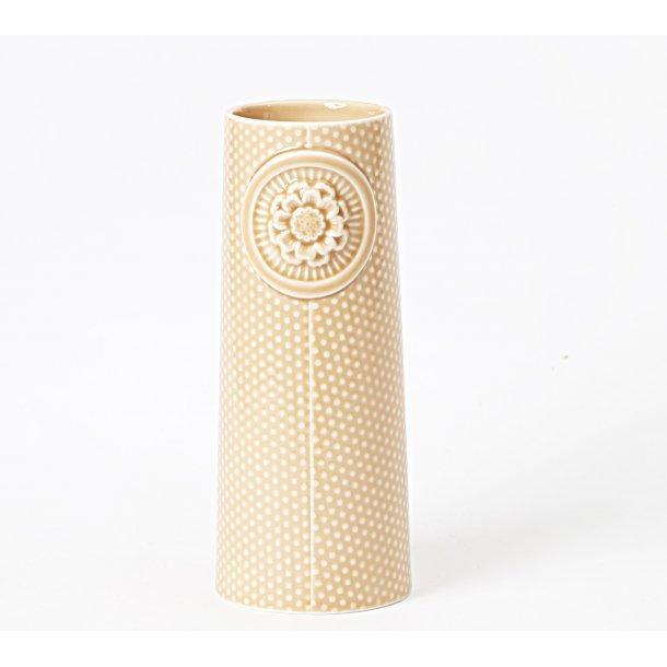Dottir - Keramik vase Pipanella stor dottet, rose