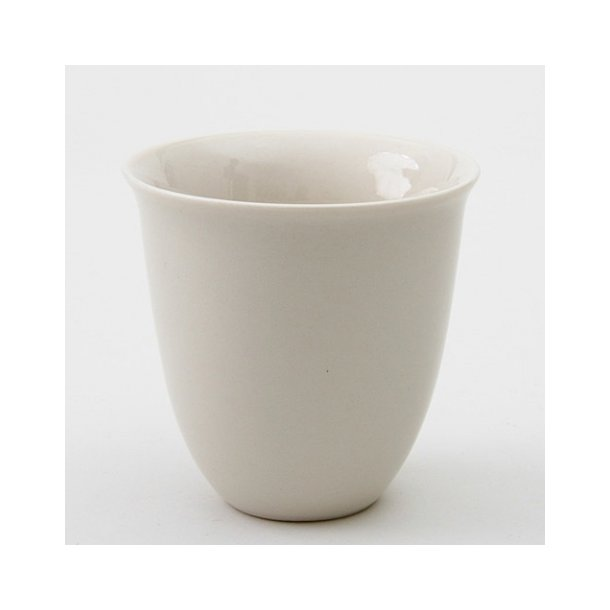 Esther Elisabeth Pedersen - Keramik håndlavet kop termokop, hvid