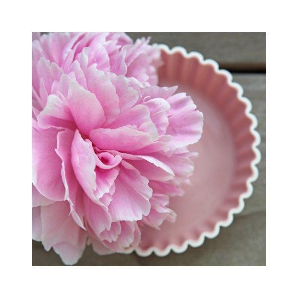 Esther Elisabeth Pedersen - Keramik håndlavet skål flæse, rosa, høj