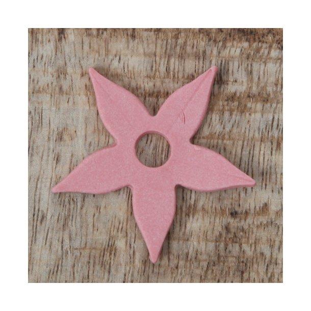 Esther Elisabeth Pedersen - Keramik blomster, 6 stk rosa