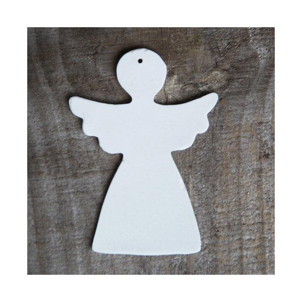 Esther Elisabeth Pedersen - Keramik julepynt engel, hvid