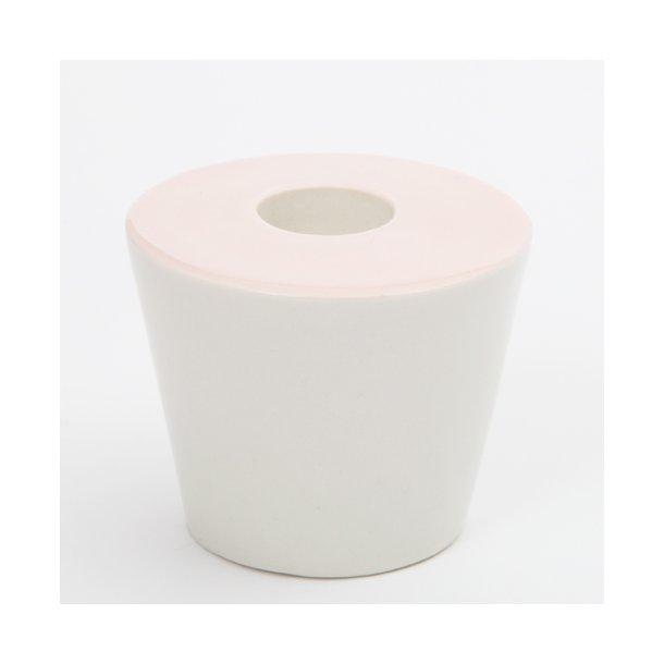 Esther Elisabeth Pedersen - Keramik håndlavet lysestage, lyserød