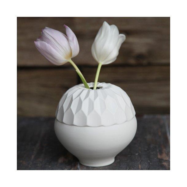 Feinedinge - Keramik håndlavet vase Dschinni, hvid