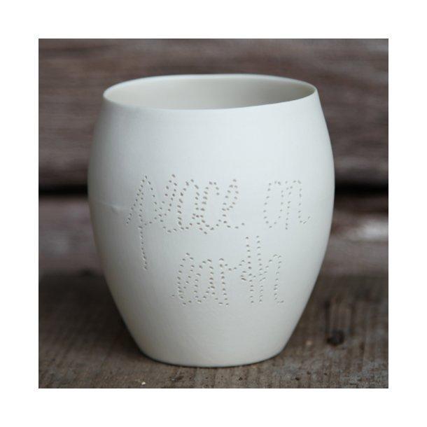 Feinedinge - Keramik fyrfadsstage NOTE, peace on earth
