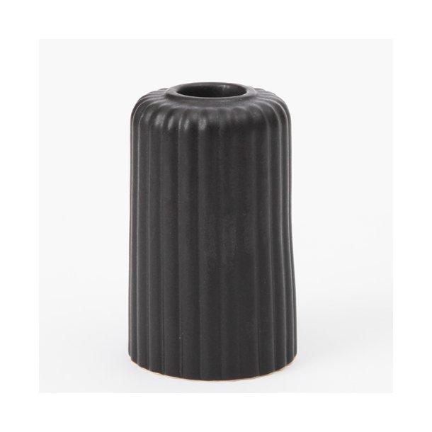 Finnsdottir - Keramik lysestage alba six, sort