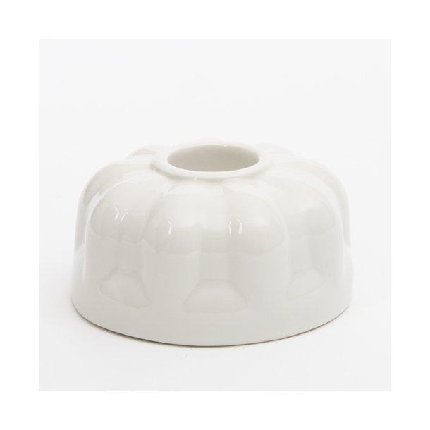 Finnsdottir - Keramik lysestage alba three, hvid
