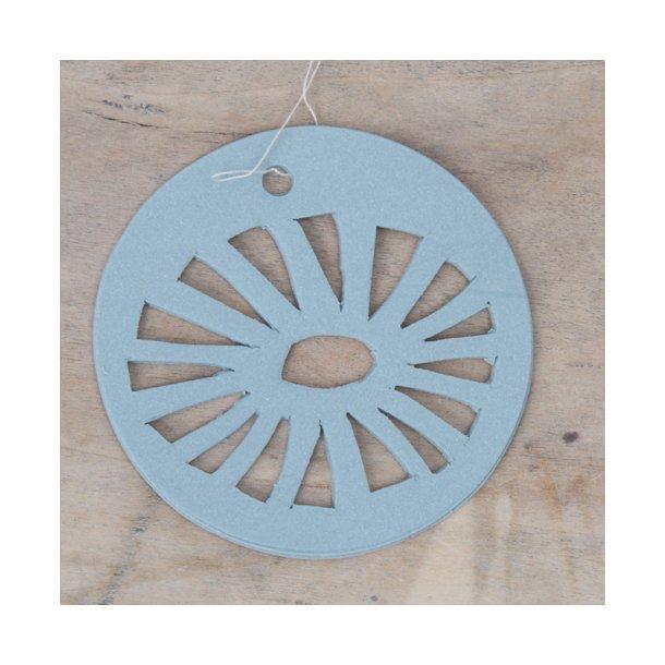 Helle Gram - Keramik ophæng 'daisy' i fjordblå
