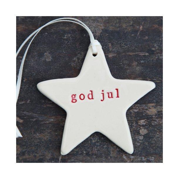 Paper boat press - Julestjerne med ord, god jul