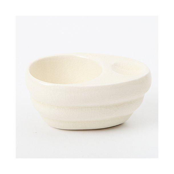 Hanne Bertelsen - Keramik håndlavet æggebæger, creme/off white