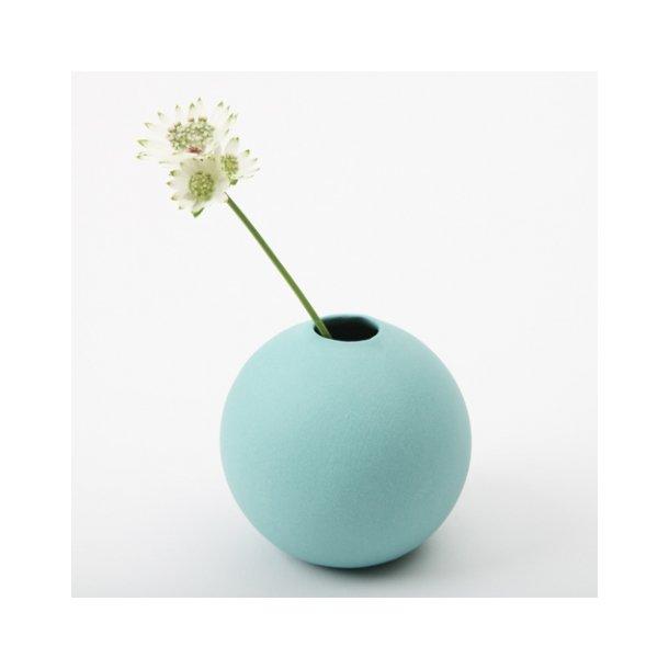Helle Gram - Keramik håndlavet rund vase, turkis
