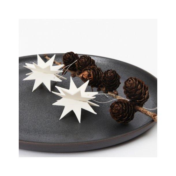 Helle Gram - Keramik julepynt, julestjerne Gemini i hvid, 1 stk