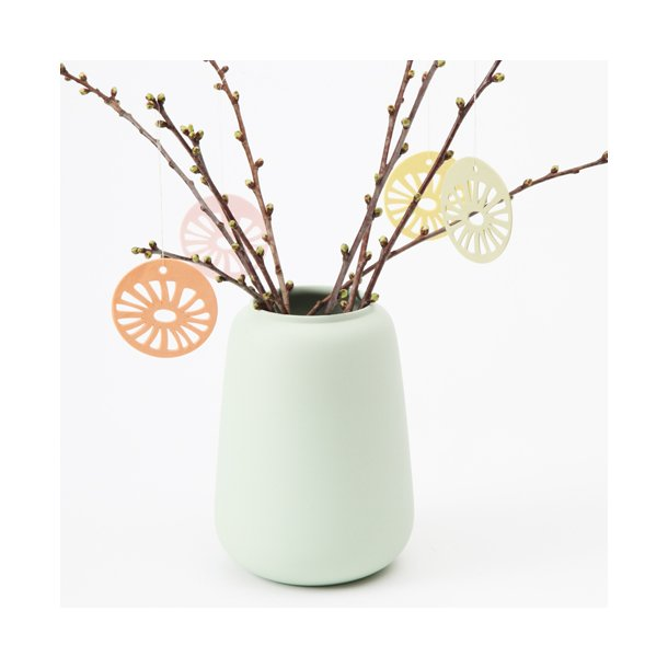 Helle Gram - Keramik ophæng 'daisy' i abrikos