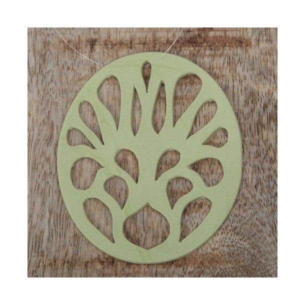 Helle Gram - Keramik ophæng 'spring' i grøn