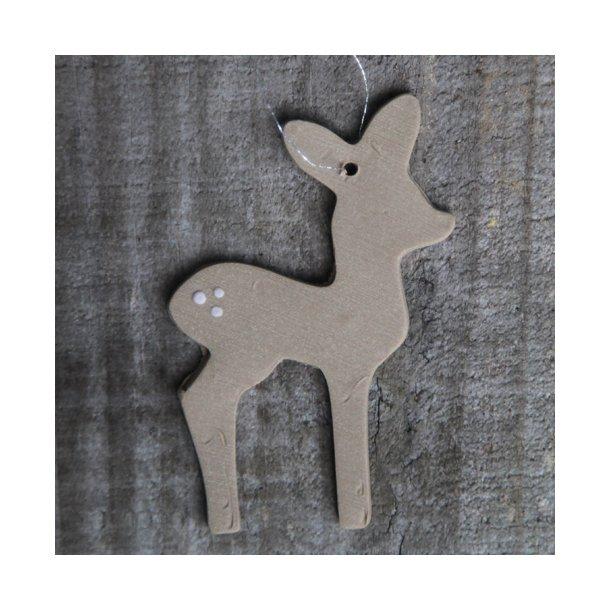 Helle Gram - Keramik håndlavet bambi (brun)