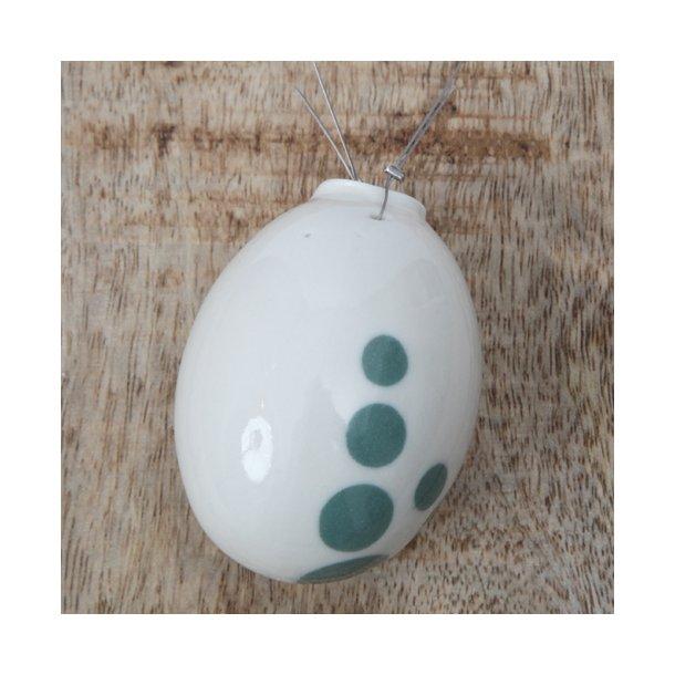 Helle Gram - Keramik håndlavet påskeæg, grøn