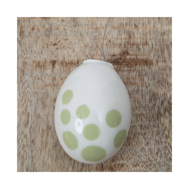 Helle Gram - Keramik håndlavet påskeæg, lime grøn