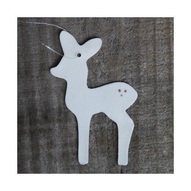 Helle Gram - Keramik håndlavet bambi (hvid)