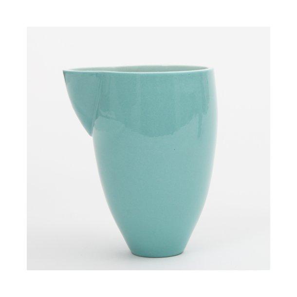 Helle Gram - Keramik håndlavet mælkekande double, turkis