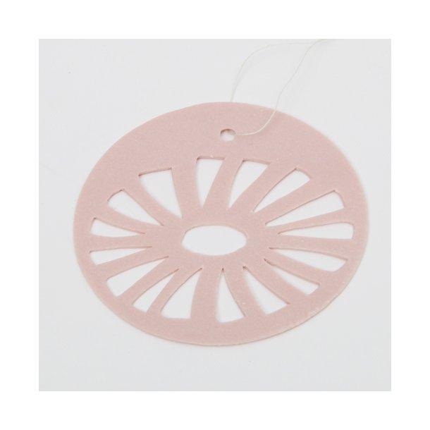 Helle Gram - Keramik ophæng 'daisy' i rosa