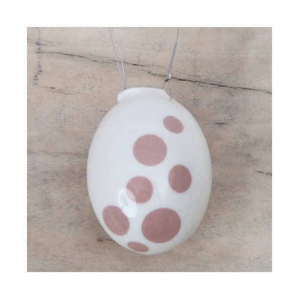 Helle Gram - Keramik håndlavet påskeæg, kanel