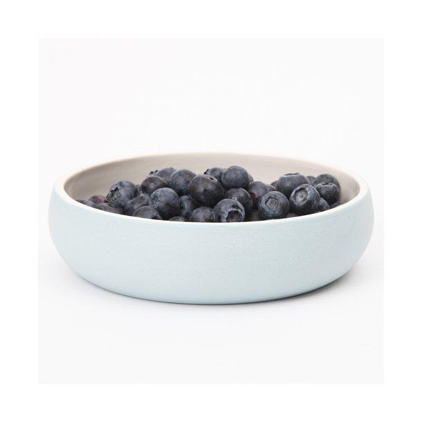 Helle Gram - Keramik håndlavet tallerken/skål chubby, fjordblå