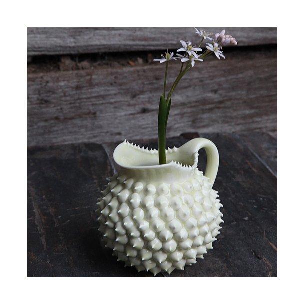 Henriette Duckert - Keramik håndlavet pigget mælkekande, lysegul
