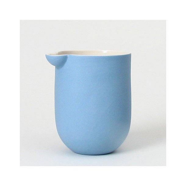 Helle Gram - Keramik håndlavet mælkekande Chubby, lyseblå