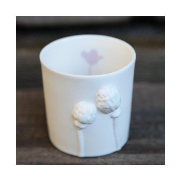 Jeanette Hiiri - Keramik fyrfadsstage valmue, rosa