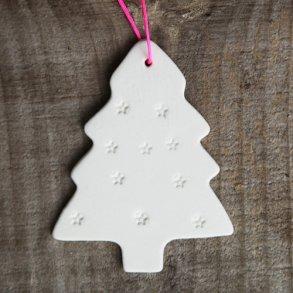 juletræspynt hvidt