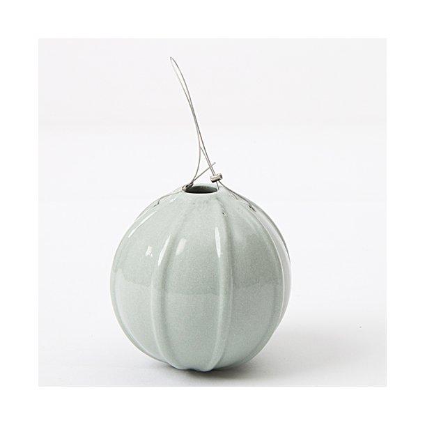 Helle Gram - Keramik håndlavet julekugle, søgrøn