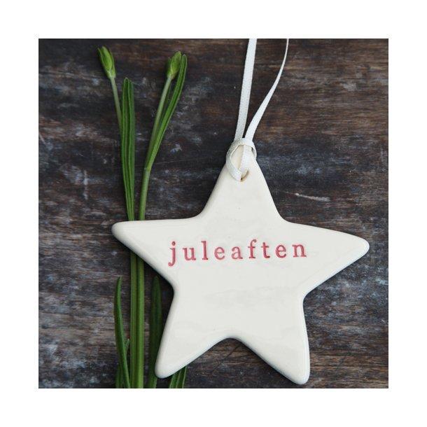 Paper boat press - Julestjerne med ord, juleaften