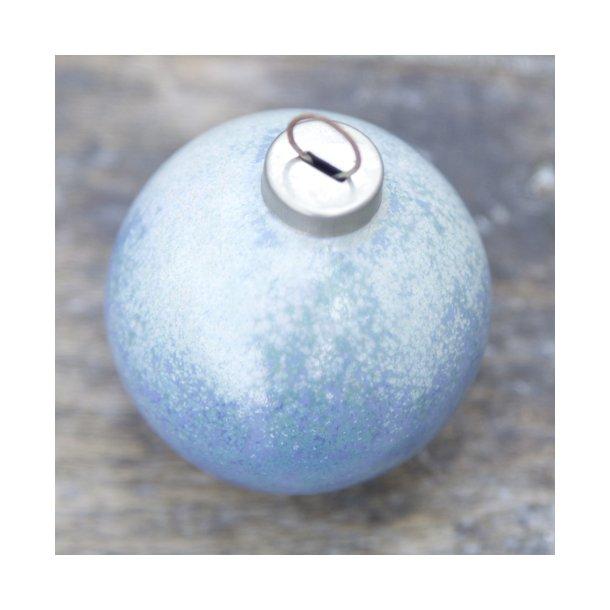 Wauw design - Keramik håndlavet julepynt julekugle, mintblå