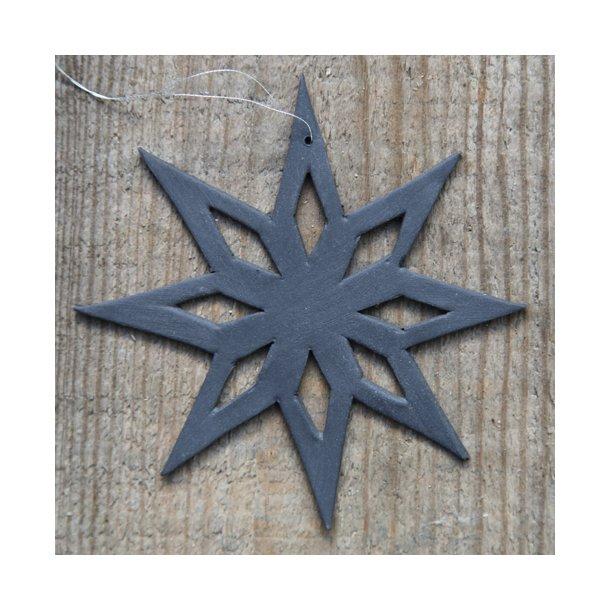 Helle Gram Ceramic Christmas Ornaments Handmade Christmas Stars In Black 2 Stars