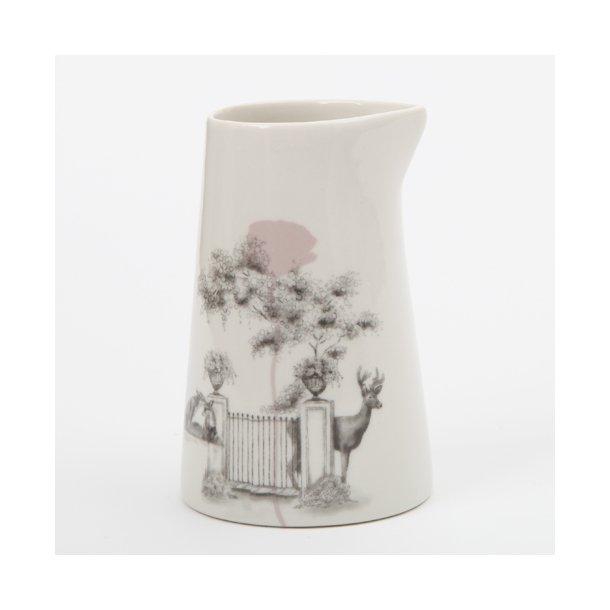 Jeanette Hiiri - Keramik håndlavet mælkekande, Flora nr 13, glaseret (limited edition, unika)