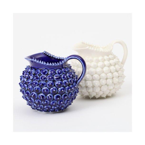 Henriette Duckert - Keramik håndlavet pigget mælkekande med bløde pigge, mørkeblå