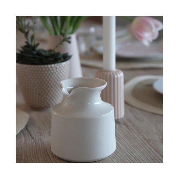 Alexandra Nilasdotter - Keramik håndlavet mælkekande, hvid (glaseret i top)