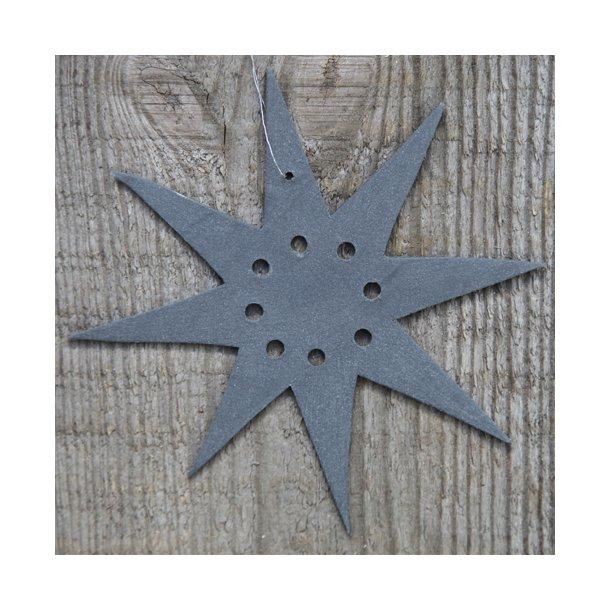 Helle Gram - Keramik julepynt, håndlavede julestjerner ' Polaris' i sort, 2 stk