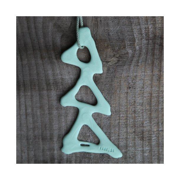 Lars Rank  - 5 håndlavede grantræer julepynt (lysegrøn)
