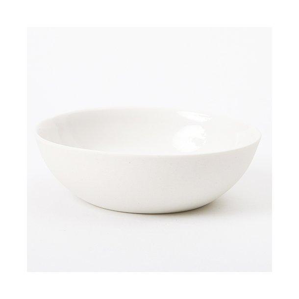 Ditte Fischer - Keramik håndlavet skål tapas mellem, hvid
