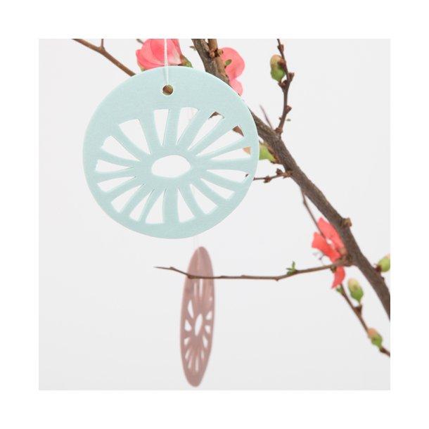 Helle Gram - Keramik ophæng 'daisy' i mint