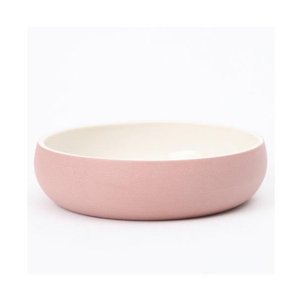 Helle Gram - Keramik håndlavet tallerken/skål chubby, kanel