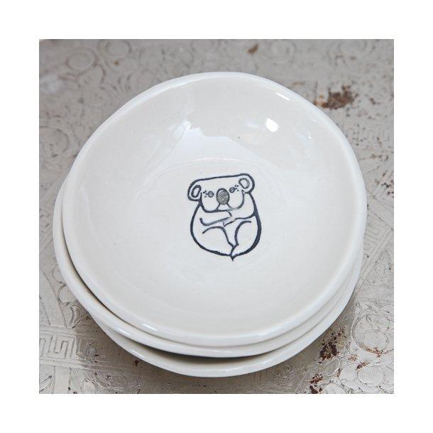 Kim Wallace - Keramik skål, littlies med koala illustration