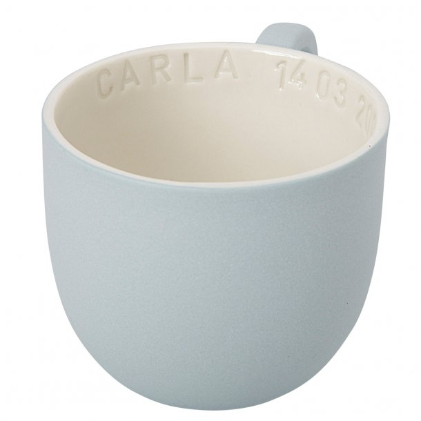 Helle Gram - Keramik håndlavet kop med navn, chubby, valgfri farve