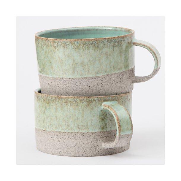 keramik kopper hejdesign   Keramik håndlavet kop med hank, kobbergrøn   KOPPER  keramik kopper