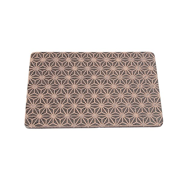 Made a Mano - Lavasten håndlavet bræt, mørk og rosa mønster
