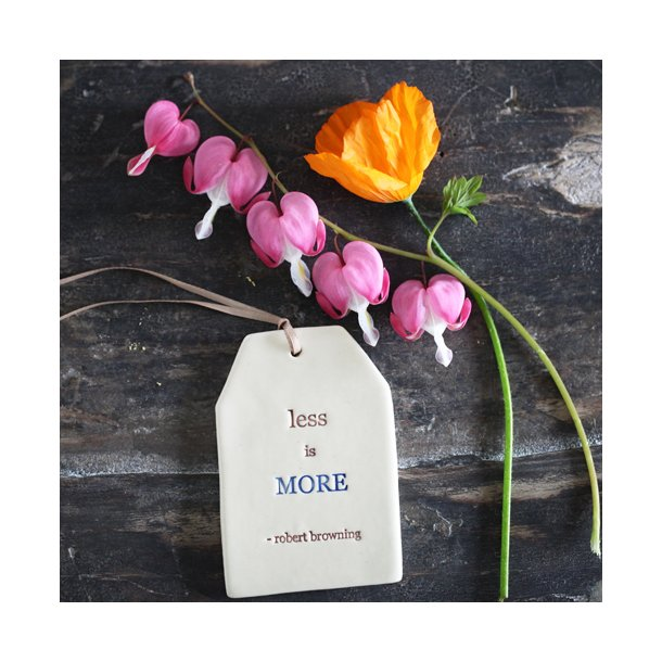 Paper boat press - Quote tag, less is more