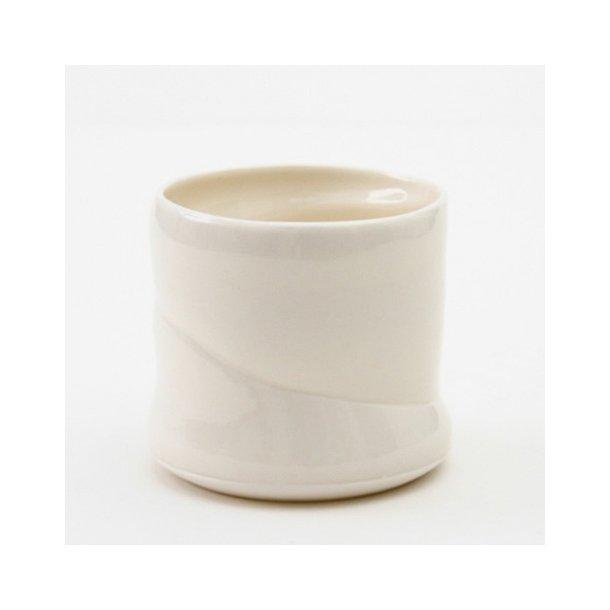 Christian Bruun - Keramik håndavet skål i hvid, tynd porcelæn