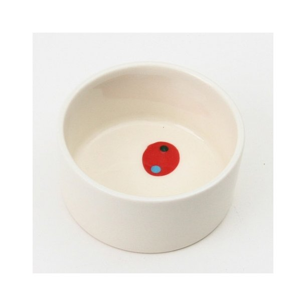 Lars Rank - Keramik håndlavet skål Dots, hvid skål