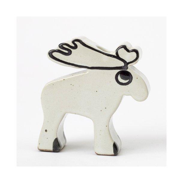 Wauw design - Keramik lysdyr, hvid elg